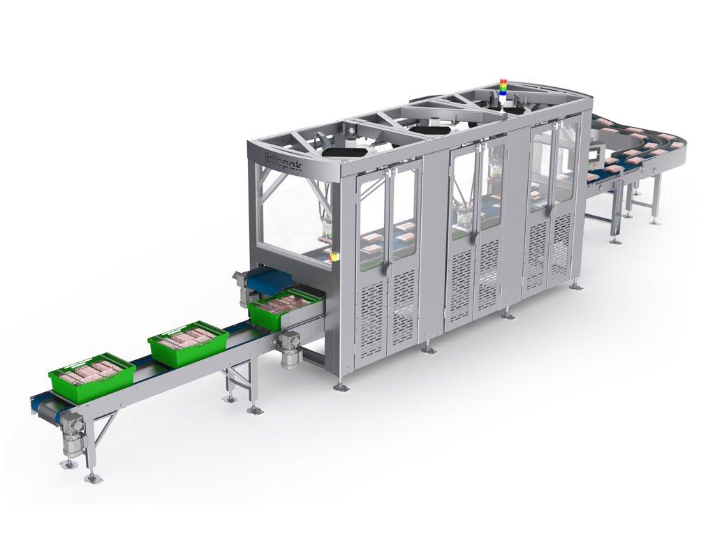 brillopak unipaker tripple automated food packing machine